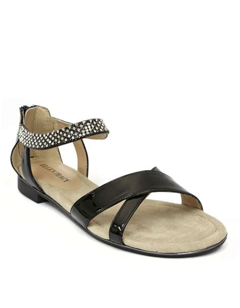 tracy sandals tracy aerial patent leather sandals with mesh chain