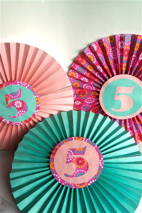 How To Make Paper Fan Flowers - how to make paper fan decorations make your own