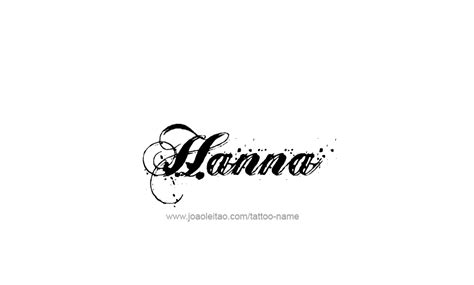 hanna tattoo name designs