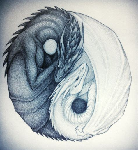 dragon yin yang tattoos yin yang yin and yang dragons by taylovestwilight