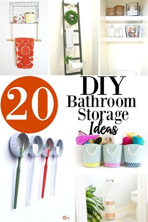 20 diy bathroom storage ideas 20 diy bathroom storage ideas design decor lifestyle