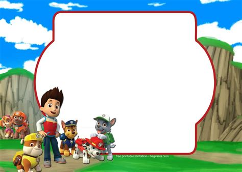 paw patrol invitation template complete collection