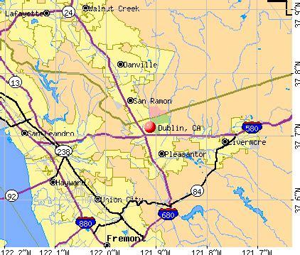 map of dublin california dublin california ca 94551 94568 profile population