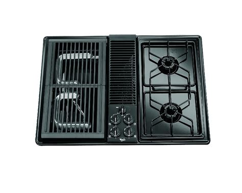 modular gas cooktop whirlpool sc8720edb 30 quot gas modular downdraft cooktop w 2
