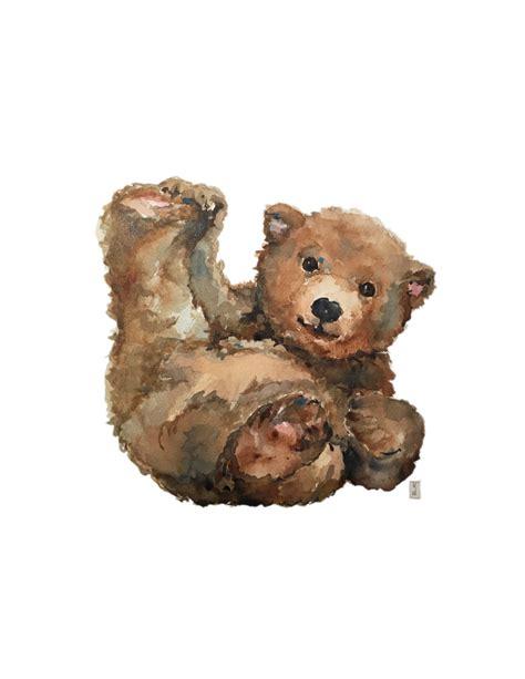 when i call baby bear watercolor print woodland animals