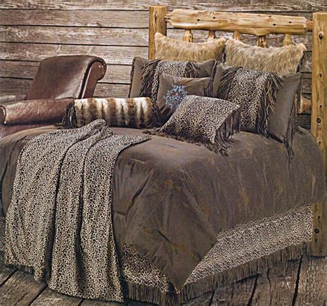 Leopard Bedding Set Leopard Western Bedding Comforter Set King