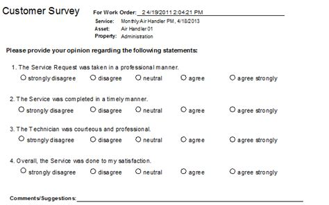 Customer Survey - use cmms systems to get customer feedback