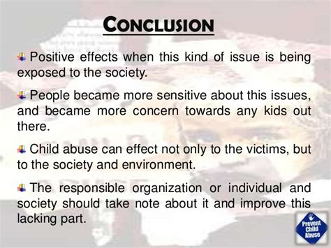 Conclusion On Child Abuse Essay by Conclusion For Child Abuse Research Paper