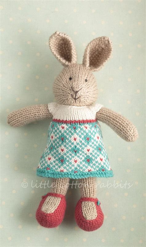 knitted rabbit pin by susan davis on knitting toys