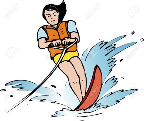 cartoon boat ski water skiing clipart 101 clip art