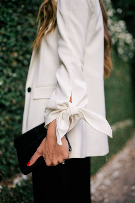 The Look For Less Tibi Bow Detail Blouse by Top 25 Best White Blazer Ideas On