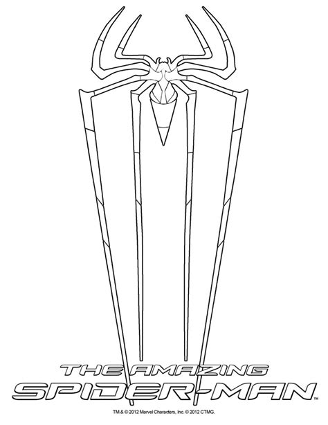 coloring pages amazing spider man free coloring pages of the amazing spider man 2