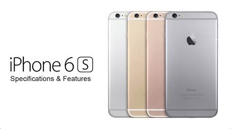 iphone 6s specs and features