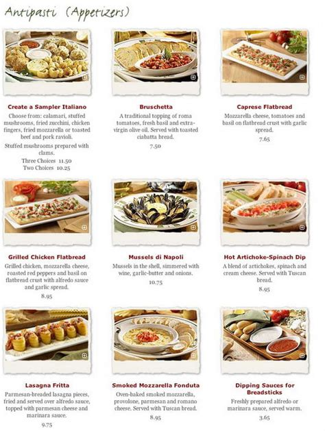 Olive Garden 2 For 20 by Olive Garden Menu Gallery