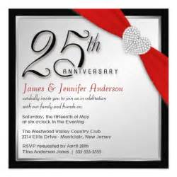 25th wedding anniversary invitation cards designs 25th wedding anniversary invitations 5 25