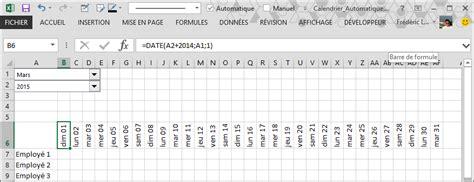 Calendrier Automatique Excel Comment Cr 233 Er Un Calendrier Automatique Dans Excel