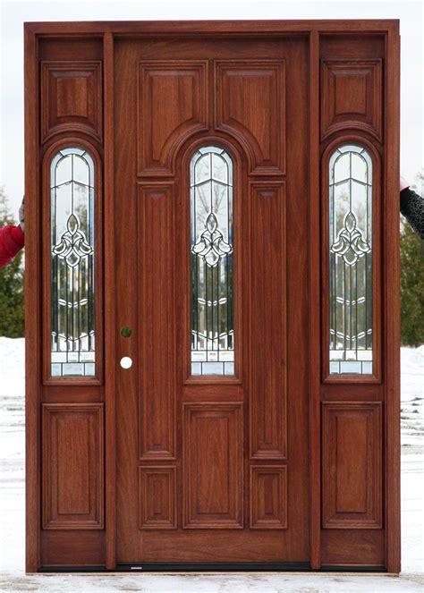 front entrance doors  glass design raised