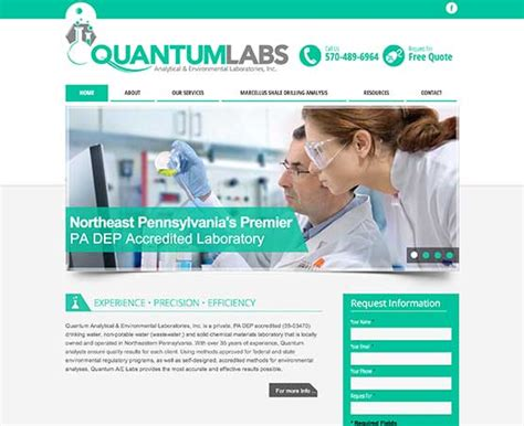 web design lab questions website design for a pennsylvania environmental laboratory