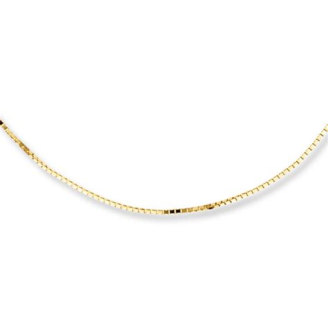 box chain necklace 10k yellow gold 20 quot length