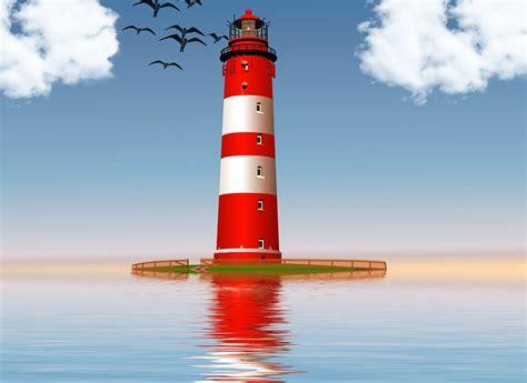 free illustration lighthouse sea white