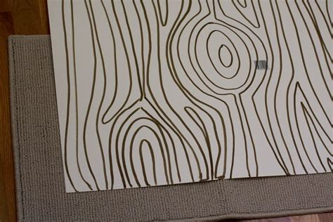 wood pattern drawing diy woodgrain rug a beautiful mess