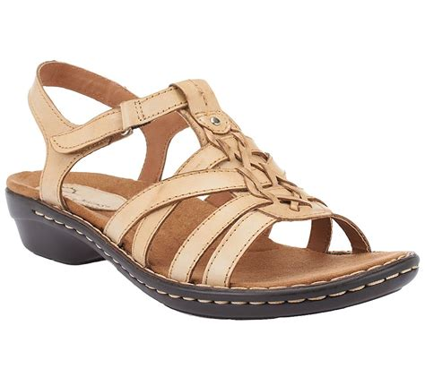 qvc sandals clearance earth origins shirley leather multi sandals page 1