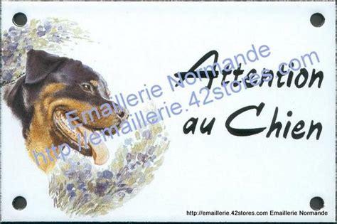 plaque rottweiler id 233 e cadeau affiche panneau plaque acier emaillee attention au chien decoree