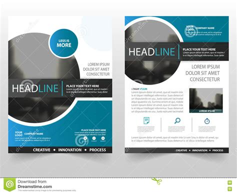 blue black circle business brochure leaflet flyer annual