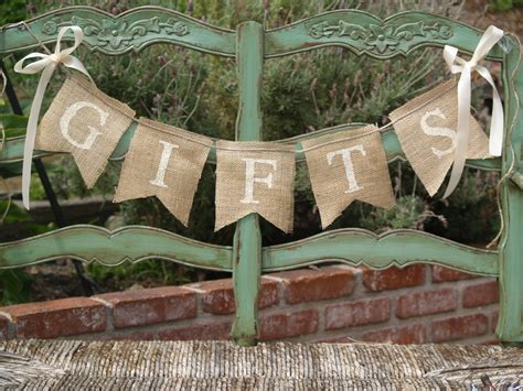 Wedding Banner Burlap by Gifts Burlap Banner Wedding Banner Gifts Sign Etsy