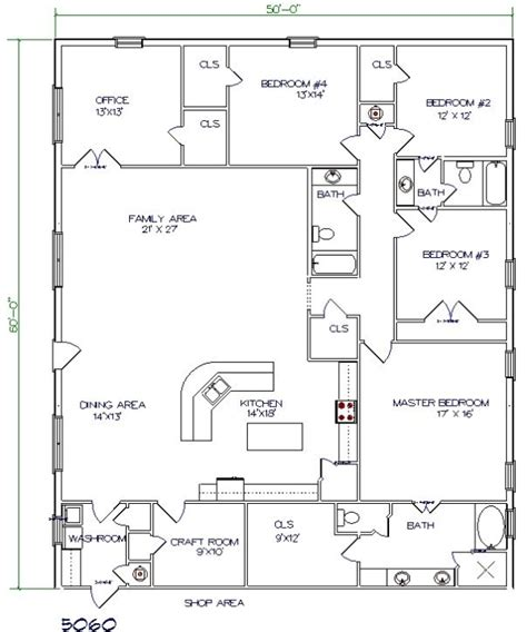 40x60 barndominium floor plans search home