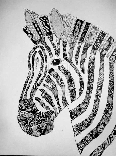 Zentangle Zebra Pattern | zebra zentangle by duuma on deviantart tangles
