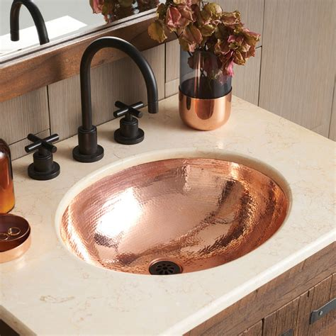 copper undermount bathroom sink classic copper bathroom sink cps268 native trails