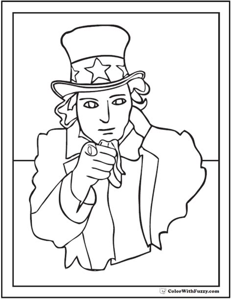coloring page uncle sam fourth of july coloring pages print and customize