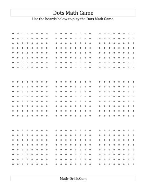 dot to dot box game printable 6 best images of dot game printable pdf printable dots