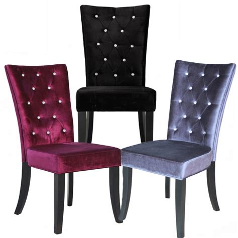 purple dining chair style about radiance dining chairs black silver purple velvet style fabric fast delivery ebay