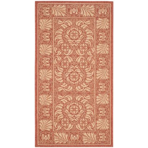 safavieh cy5146a courtyard indoor outdoor area rug rust lowe s canada safavieh courtyard rust sand 2 ft 7 in x 5 ft indoor outdoor area rug cy5146a 3 the home depot
