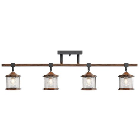 kichler track lighting shop kichler barrington 4 light 32 in distressed black and