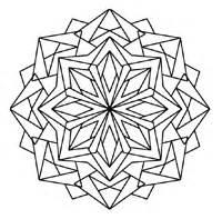 Kaleidoscope Coloring Book Design sketch template