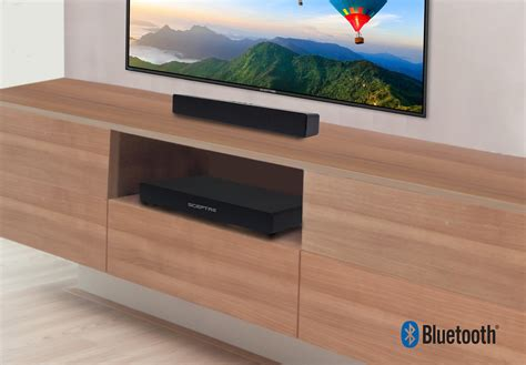 sceptre home theater hd sound bar  subwoofer wall