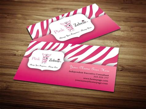 free zebra business card template pink zebra business card design 3