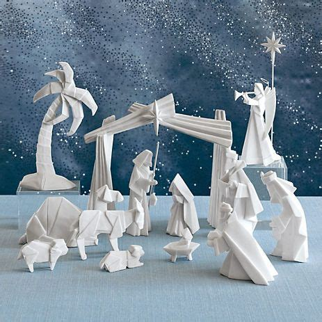 Porcelain Origami Nativity Set - 17 best images about decorations on
