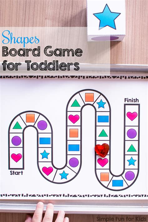 printable game board shapes shapes board game for toddlers simple fun for kids