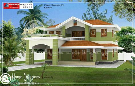kerala home design double floor beautiful double floor home design with free home plan
