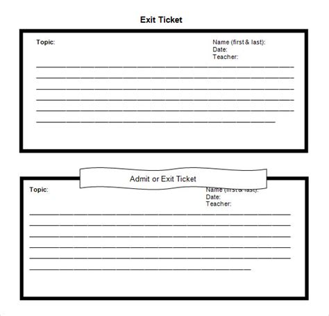 exit card template 11 sle exit ticket templates to sle templates