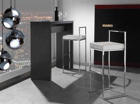 tavolo alto con sgabelli sgabello impilabile con seduta in ecopelle idfdesign