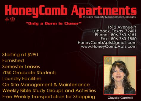 Honeycomb Apartments Lubbock Christians In Business Honeycomb Apartments Details
