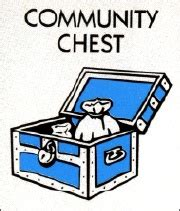 Chance And Treasure Chest Card Monopoly Template by Design Context Community Chest Cards Are Yellow