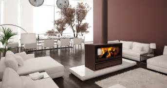 Jide: Double sided wood burning stove for open plan rooms