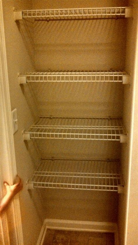 easy way to convert an coat closet into a food storage