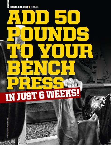 increase your bench press by 50 pounds bench boosting add 50lbs to your bench muscle insider